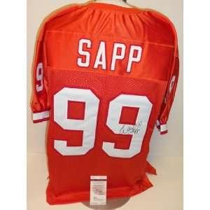 Tampa Bay Bucs Throwback   Warren Sapp Autographed Custom
