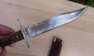 Sheffield Bowie Knife Challenge Cutlery Co W Sheath Antique Vintage