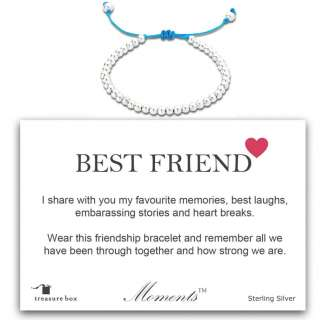 Moments Best Friend Sentimental Friendship Bracelet