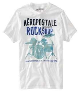 Aeropostale Tee Shirts NY 1987 Graphic Rock Shop Musical Various Sizes
