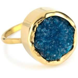Melissa Joy Manning Neptune 14k Gold Cavancite Ring Size 7 Jewelry