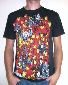 IRON MAN T SHIRT retro punk emo indie comic book vtg