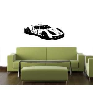 Wall MURAL Vinyl Sticker Car 1966 Gulf GT40 MKII race car D2167