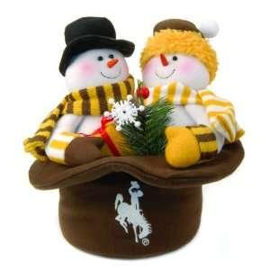 12 NCAA Wyoming Cowboys Snowmen Top Hat Table Christmas