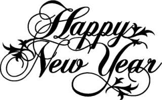 Happy New Year Wall Lettering Stickers Vinyl Word Decal |