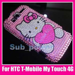 Kitty Bling Back Case cover HTC T MOBILE MyTouch 4G P4