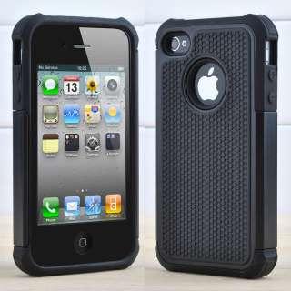 4G 4S Purple Aluminum TPU Hard Case Cover W/Chrome Stand+Free Pen&Film