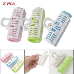 Assorted Color Plastic DIY Clip Roller Hair Curler 3pcs Beauty