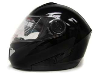 MODULAR MOTORCYCLE FLIP UP HELMET DUAL SHIELD SUN VISOR DOT ~XL