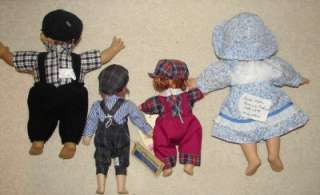 VTG FOUR DOLLS AMERICANA/MOODY MUFFET KIDS GIRLS/BOYS