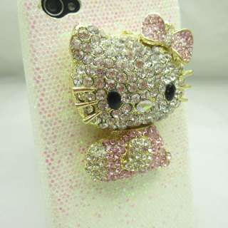Bling Hello kitty WHITE Case Cover for iPhone 4 NEW WK