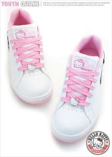 Sanrio Hello Kitty Ladys Comfy Sneakers Low Profile Shoes White Pink