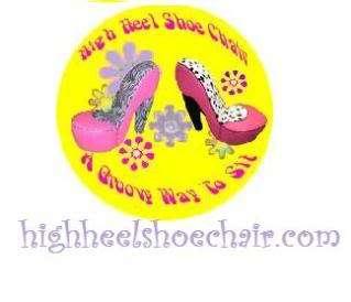 PINK & ZEBRA HIGH HEEL SHOE CHAIR FURNITURE GIRL GIFT