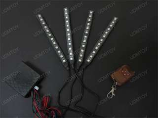 Bright 4 x 7 7 Colors SMD LED Scanner Lighting Kit w/ Remote Control