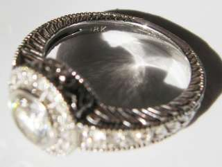82 ct. Brilliant Round Cut Diamond Wedding Ring Deco / Antique