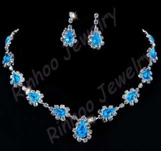 Magic 6sets Rhinestone neckalce earrings sets mix color