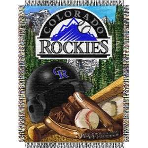 Colorado Rockies Major League Baseball Woven Tapestry Throws