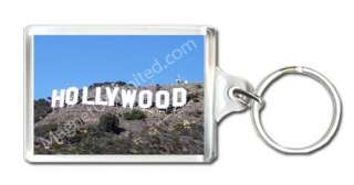 Hollywood Sign Los Angeles, CA Souvenir Keychain