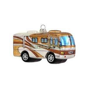 Class A RV Motor home Bronze Glass Christmas Tree Ornament