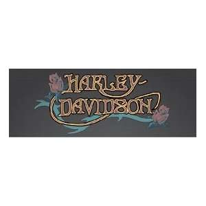Window Graphics Harley Davidson Nouveau Roses Motorcycle