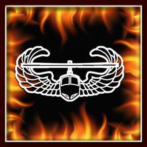 Army Air Assault Military airbrush stencil template harley paint