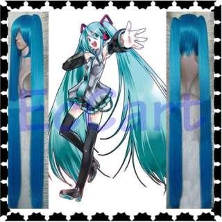 Vocaloid Hatsune Miku Cosplay Dark Blue Long 1.2M Wig