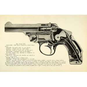 1948 Print .38 Smith Wesson Safety Hammerless Hinge Frame