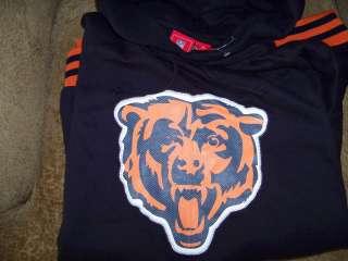 CHICAGO BEARS NFL HOODIE HOODY NAVY BLUE N ORANGE NWT SIZE XXL