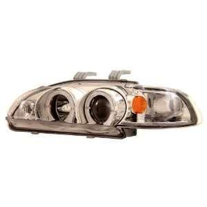 92 95 Honda Civic 2/3Dr Chrome LED Halo Projector Headlights /w Amber