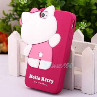 HIDE /SEEK Hello Kitty Cute 3D Soft Skin Case Cover for iPhone 4 4G 4S