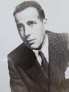 Actor Photograph 5 1/4x 3 3/4 Humphrey Bogart Black & White