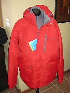 NWT MENS RED COLUMBIA EXPOSURE FALLS 3 IN 1 WINTER SKI JACKET COAT