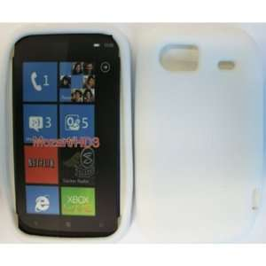 HTC MOZART HD3 WHITE SILICONE CASE Cell Phones