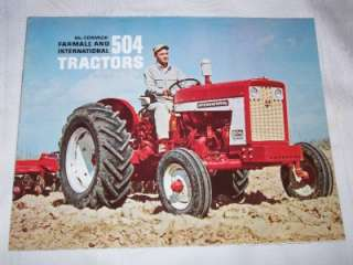 McCormick Farmall & International 504 Tractor Advertising Brochure