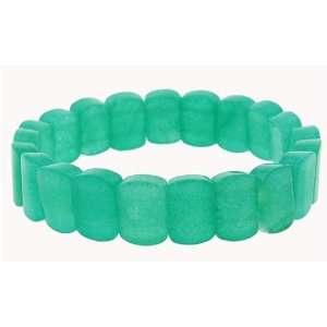 Mini Section Stretch Bracelet   Green Aventurine Jewelry