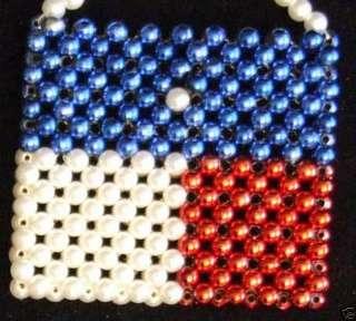 TEXAS FLAG BEAD PURSE Mardi Gras Bead Necklace Works