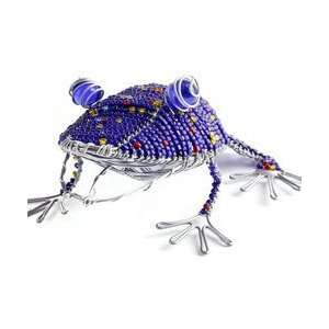 New Green Giraffe Frog Medium Made Of Glass Beads And