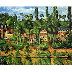 Oil Painting: Chateau du Medan: Paul Cezanne Hand Painted
