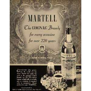 1937 Ad Park Tilford Martell Brandy Cognac Bottles