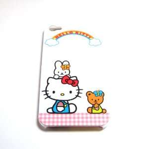 Hello Kitty happy White Snap On Hard Case Cover for iphone