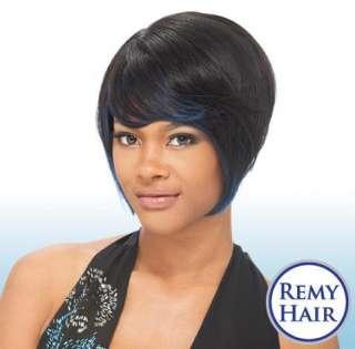 100% HUMAN HAIR WIG   JANICE  Milky Way Wigs Shake n go