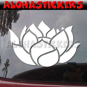 LUCKY LOTUS FLOWER #2 Vinyl Decal Car Truck Buddha FR1