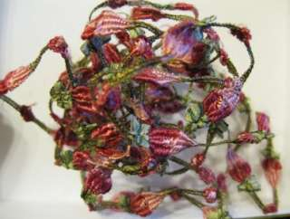 Antique Wire Thread French Silk Roses Ombre Flapper Era Ribbon