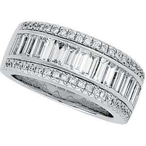 14K White Gold Diamond Bridal Band Ring DivaDiamonds
