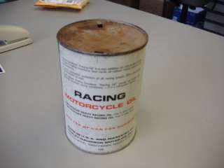 Davidson Racing Motorcycle metal oil can 1 Quart .946 Liters