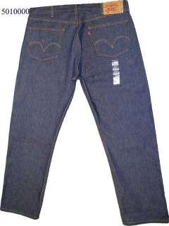 Levi 501 Button Fly Rigid Dark Blue Denim W 31 L 31