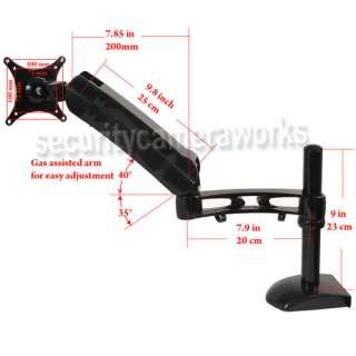 Flat Screen LCD LED Tilt Swivel Arm TV Monitor Desk Mount 15 17 19 20