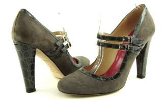 KATE SPADE SCARLETT GREY Suede Womens Shoes Pumps 10
