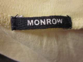 MONROW Yellow White Peace Sign Tank Top Shirt Sz XS
