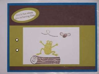 Stampin Up handmade greeting card kids FROGS PY LOT